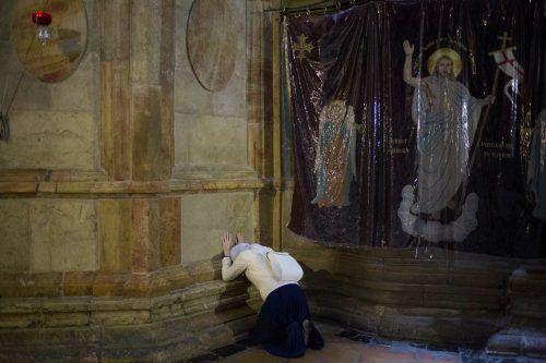 Christen aus dem Gazastreifen wollen zu Ostern in die Grabeskirche in Jerusalem. AP