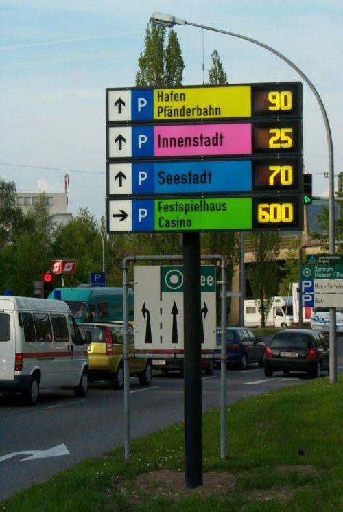 Das Bregenzer Parkleitsystem wurde im Jahr 2004 gestartet.