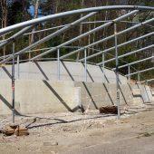 Birkhuhn-Gehege im Wildpark im Bau