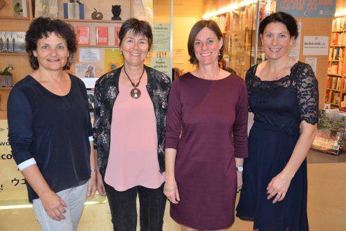 Das Team der Gemeindebibliothek: Erika Loacker-Schöch, Andrea Etlinger, Regina Heinzle und Michaela Hermann (v.l.). Hotz