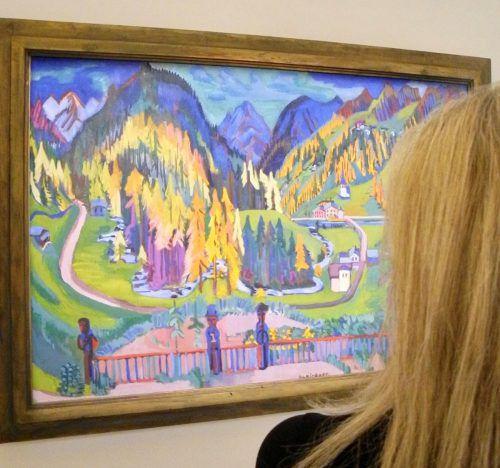"""Das Werk """"Sertigtal im Herbst"""" (1925/26) von Ernst Ludwig Kirchner kommt aus dem Kirchner-Museum in Davos. VN/CD"""