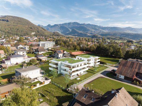 Das Wohnbauprojekt Duett No 09 entsteht im Herzen des Rheintals.Bild: INSIDE96