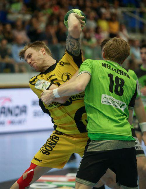Den Bregenzer Handballern droht wie schon in den letzten beiden Saisonen das vorzeitige Saisonende im Viertelfinale. GEPA