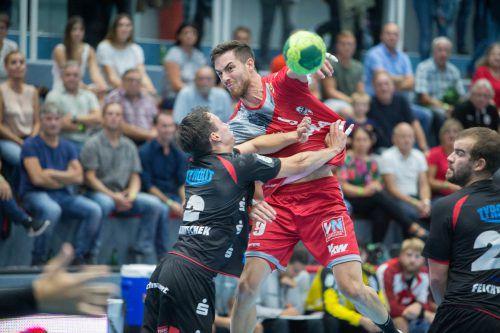 Der Alpla HC Hard will im Heimspiel gegen Schwaz in der Best-of-three-Viertelfinalserie vorlegen.VN/Stiplovsek