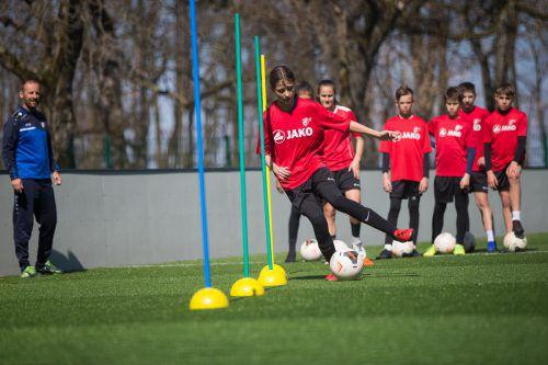 Der Anteil an Fußballerinnen in der Akademie Mehrerau ist in den vergangenen Jahren stetig angestiegen.VN/Steurer
