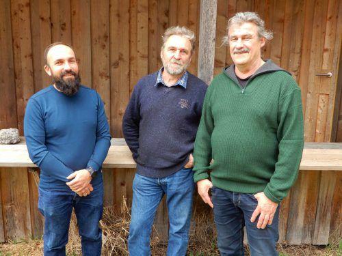 """Der Bienenzuchtverein Dornbirn wird künftig von einem """"Dreiergespann"""" geführt: Peter Vogel, Ewald Hiller und Gerhard Bohle. cth"""