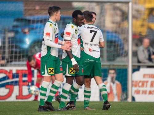 Der FC Lauterach will erneut jubeln und die Tabellenführung verteidigen.Sams