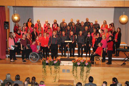 Der gemischte Chor zählt 80 Sängerinnen und Sänger im Alter von 18 bis 91 Jahren. nam