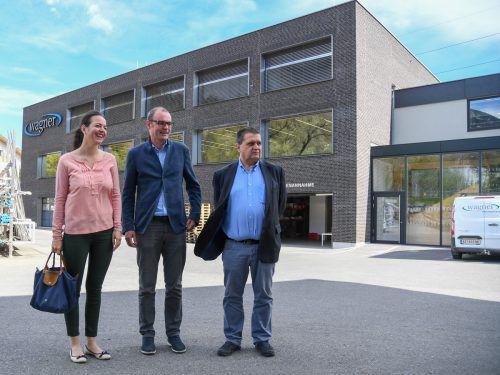 Der Wagner-Firmensitz in Nüziders ist ein Holzhybridgebäude.