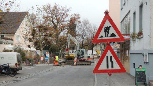 Die Bauarbeiten in der Quellenstraße in Bregenz beginnen am Montag.
