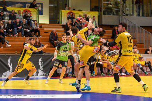 Die Bregenzer Handballer müssen gegen West Wien das drohende dritte Viertelfinal-Aus in Serie abwenden.GEPA