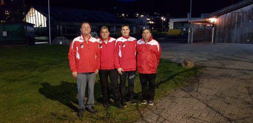 Die ESC-Teamspieler Obmann Josef Gruber, Raimund Walch, Vinzenz Zech und Günter Neyer (v.l.) waren mit ihrem Abschneiden zufrieden. Neyer