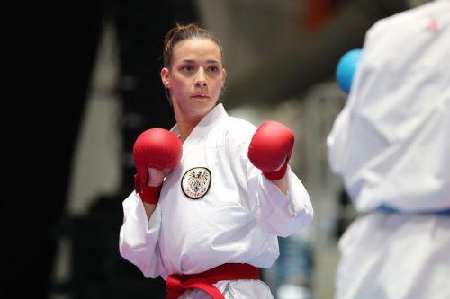 Die Feldkircherin Bettina Plank greift in Rabat voll an.karate austria