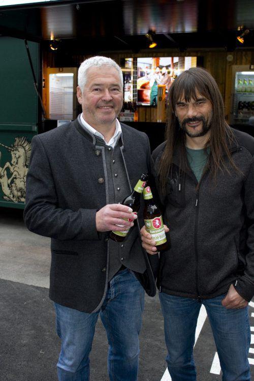 Andreas Rosa (l.) kümmert sich ums gute Bier, Wolfgang Sila um den kaufmännischen Bereich. Franc