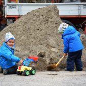 Sieben Tonnen Sand abgeholt