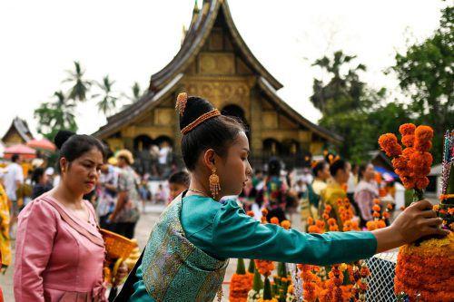 Die Neujahrsfeiern dauern in Luang Prabang (Laos) zehn Tage lang. AFP