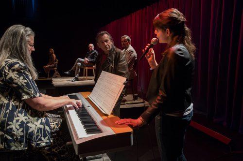 """Die Premiere von """"Odyssee - Ein Stück (über) Heimat"""" wurde am Dienstagabend im Theater Kosmos in Bregenz gefeiert. VN/Steurer"""