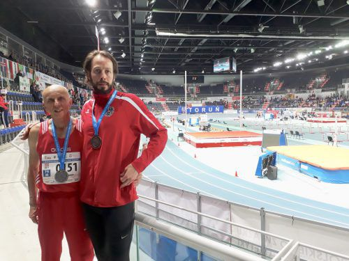 Dietmar Steiner und Florian Vogel holten Medaillen bei der Hallen-WM in Polen.Privat