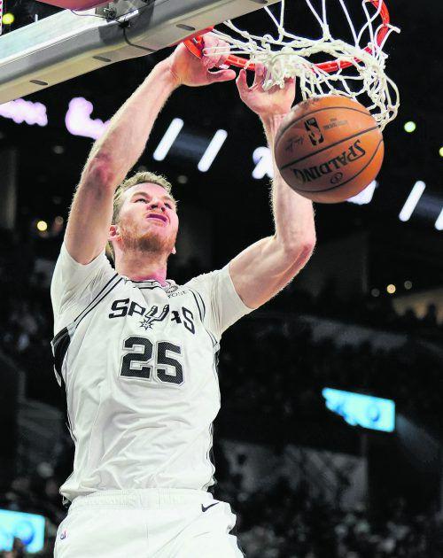 Drei Punkte und sieben Rebounds in Denver: NBA-Ass Jakob Pöltl.ap