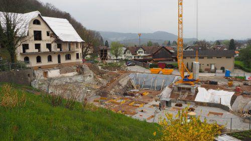 Ein Teil des alten Kurhauses wird in die neue Wohnanlage integriert. Egle