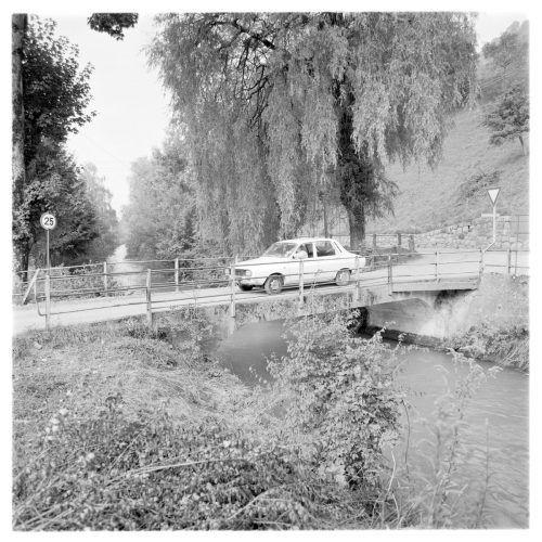 Eine Aufnahme von der Kanalbrücke aus dem Jahr 1973.
