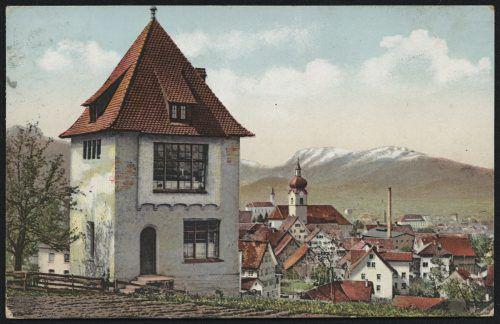 Eine Postkartenaufnahme des Oberdorfs vor 1909.