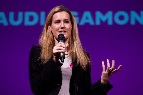 """EU-Wahlkämpferin Claudia Gamon wird offenbar sogar in der VP als """"wählbare Alternative"""" gesehen. VN/Steurer"""