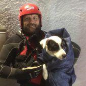 Kennelbach: Hund Balu und Camper von Wasserrettung aus Notlage befreit. a9