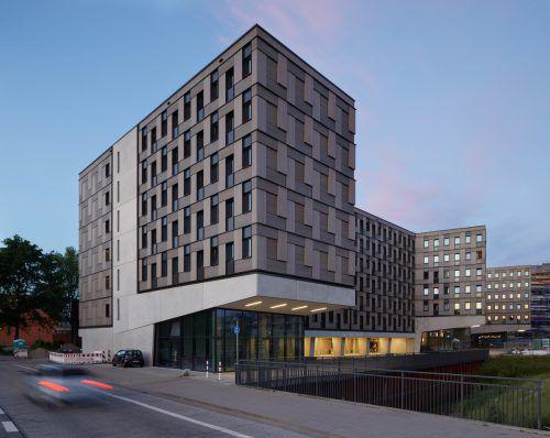 Das von Kaufmann realisierte Studentenheim Woodie in Hamburg.KB