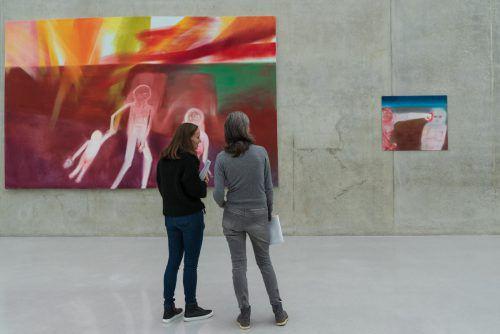 """""""Das genaue Hinschauen"""", die Arbeiten von Miriam Cahn können noch bis Sonntag besichtigt werden. vn"""