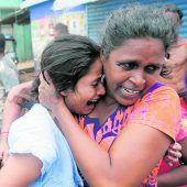 Entsetzen und Trauer in Sri Lanka