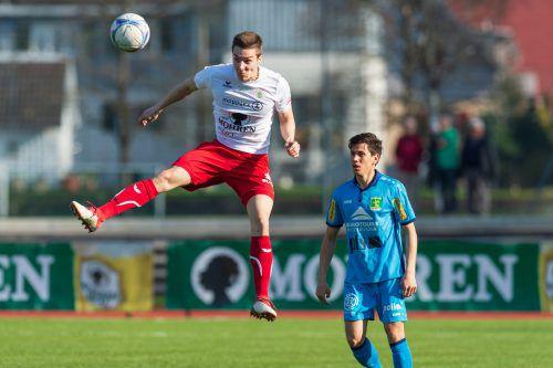 Florian Prirsch erzielte in der laufenden Saison bereits neun Tore als Linksverteidiger. Im Derby gegen Altachs Amateure trifft er heute auf seinen Ex-Klub.vn