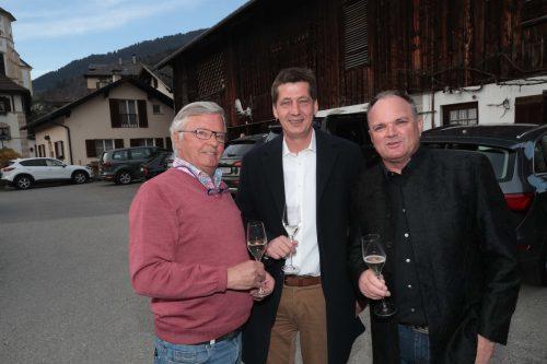 Gebi Walch (l.) mit Thomas Lorünser und Wolfgang Mähr.