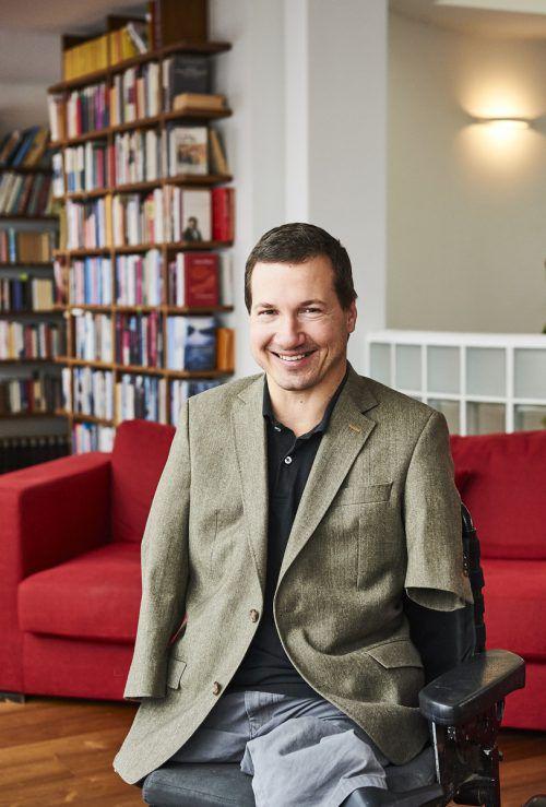 Georg Fraberger stellt in Dornbirn sein neues Buch vor. Aleksandra Pawloff