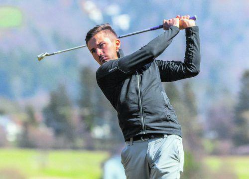 Golfer Michael Vonbank versucht in diesem Jahr bei den Profis durchzustarten.mvp