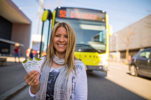 Gratisfahrten mit Bus und Bahn sind eine gefragt Sache. VN/Steurer