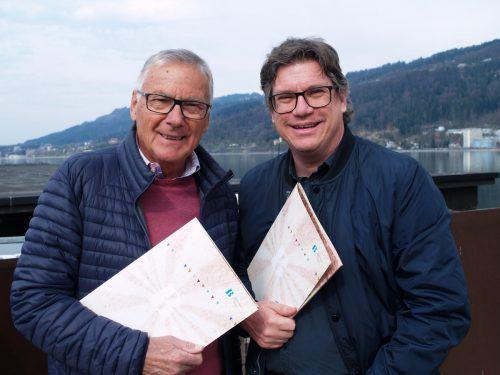 Im Gespräch: Günter Polanec (l.) und Dieter Heidegger.