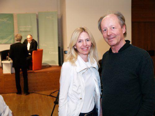Im Publikum: Carola Haak und Franz Metzler (ehemaliger Schulleiter).