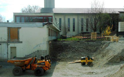 In Bregenz wird die Baustelle für den neuen Kindergarten vorbereitet. fst