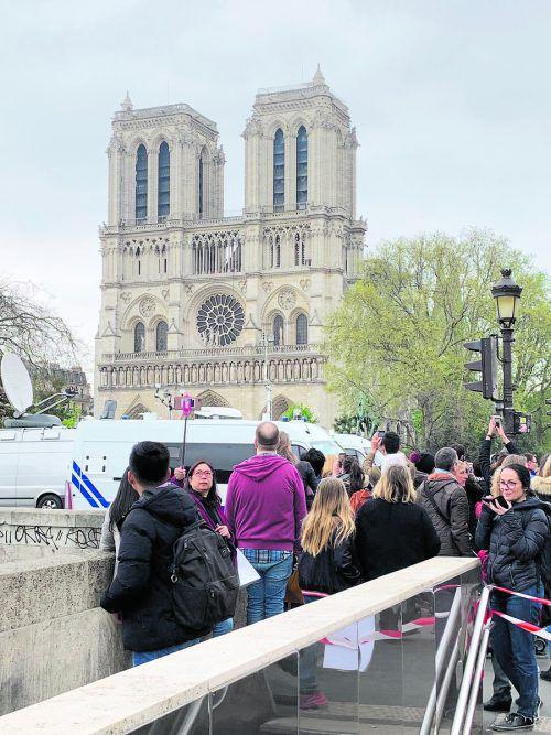 In der Nähe der Kathedrale war am Dienstag einiges los. VN/Riedmann