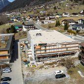 Bauarbeiten für neuen MPreis in St. Gallenkirch auf der Zielgeraden