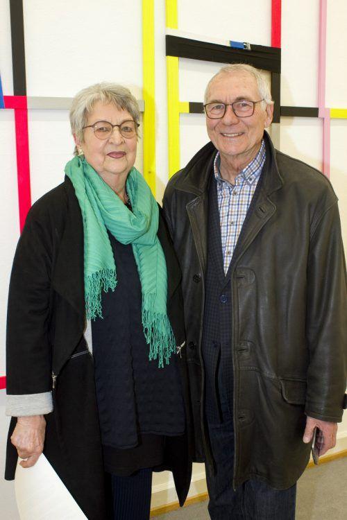 Interessierte Gäste: Dorothea Cavadias und Herbert Koch.