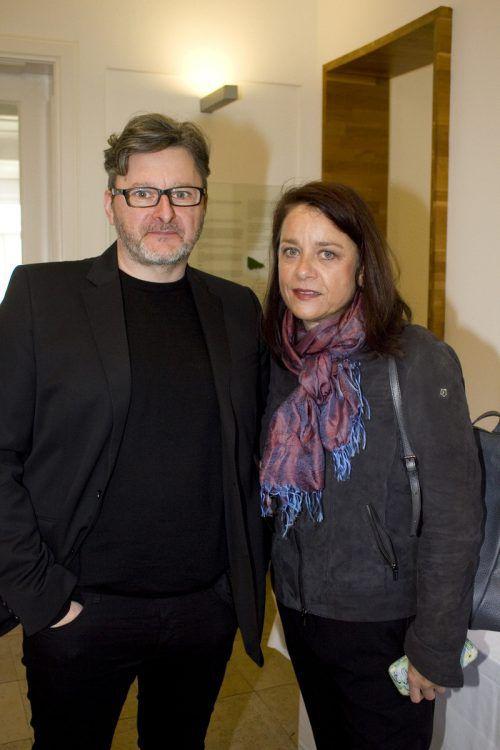 Interessierte Zuhörer: Wolfgang Rützler und Marlene Müller.