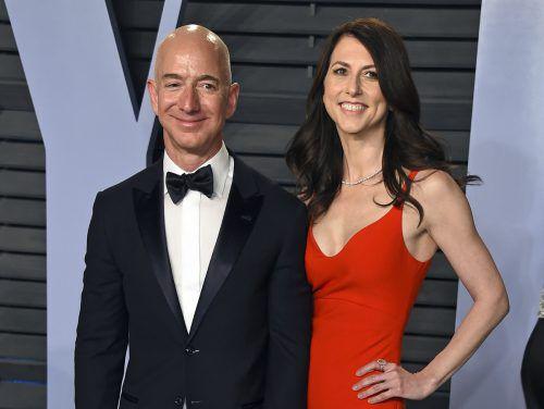 Jeff und MacKenzie Bezos waren 25 Jahre verheiratet. AP