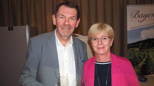 Josef und Andrea Bayer präsentierten Donnerskirchner Wein.