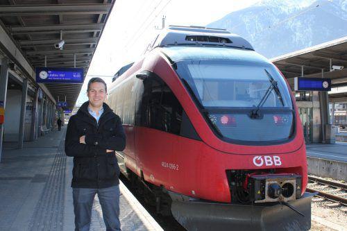 Julian Hackl hat mit gerade einmal 23 Jahren 19 der 34 Vorarlberger Bahnhöfe im Griff. vn/jlo