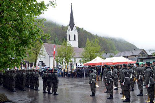Jungsoldaten legten Treuegelöbnis ab. VLK