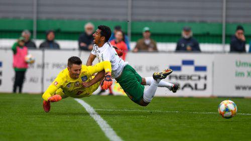 Keine Flugeinlagen wie zuletzt gegen BW Linz, sondern Tore will Austria-Stürmer Ronivaldo in Lafnitz für sich sprechen lassen.gepa