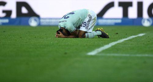 Kingsley Coman scheiterte in der Nachspielzeit an Nürnberg-Keeper Christian Mathenia. Kurz zuvor verschossen die Nürnberger einen Elfmeter.AFP