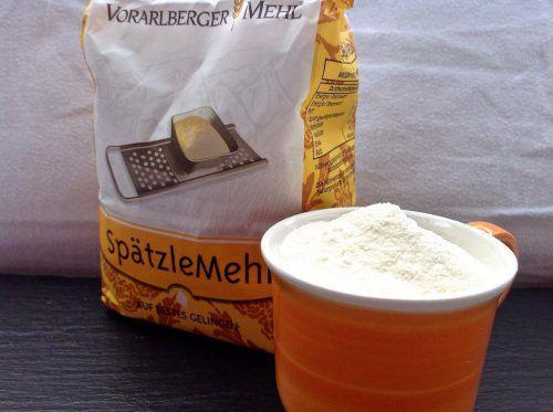 Könnte kompaktierten Grieß enthalten: Das beliebte Vorarlberger Spätzlemehl. Lohs